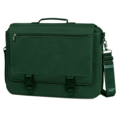 Fantasybag Expandable Briefcase, One zippered & slip pockets-Hunter Green