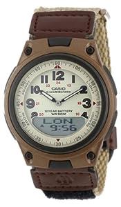 (历史最低)Casio Men's AW80V-5BV World Time DataBank Watch卡西欧时尚电子表 $17.71