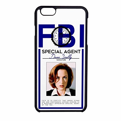 dana-scully-badge-cover-iphone-6-6s-case-black-rubber-j2g6ux