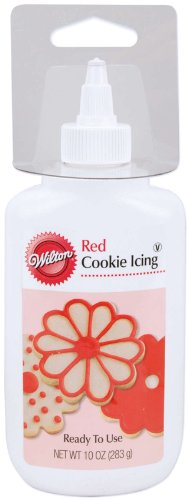 Wilton 10 Ounce Cookie Icing, Red