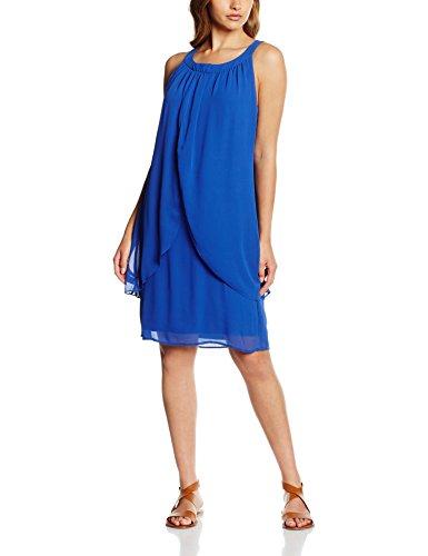 Comma Damen Kleid 81.606.82.3403, Blau (Lagoon Blue 5597), 38