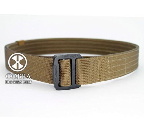 "Active Handgun Trainers (A.H.T.) Series COBRA Riggers Belt 1.5"" wide in Coyote Tan (L 36-38"")"