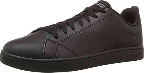 Adidas NEO Men's Advantage Clean VS Fashion Sneaker, Black/Black/Lead, 10 M US