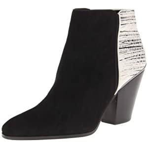 Dolce Vita Women's Holland Boot,Black/White Suede,8.5 M US