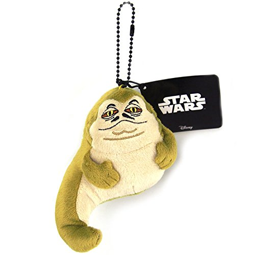 Japan Disney Official Star Wars the Force Awakens - Jabba the Hutt Head Mascot Soft Plush Stuffed Toys Cushion Doll Plushie Ball Chain Strap Charm String Phone Ring Holder Accessory Takara Tomy Arts
