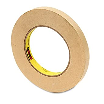 """Scotch 23212 High Performance All Purpose Masking Tape, 60 yd Length, 1/2"""" Width, Natural"""