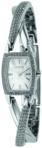 DKNY Women's NY4633 Crystal Accented Stainless Steel Watch