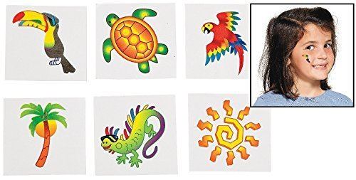 Tropical Tattoos (6 Dozen) - BULK - 1