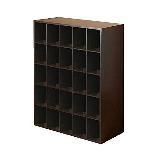 Closet Shoe Organizer Storage Cabinet Cube, 25 Pair Floor Cubby - Espresso (Cubbies Storage compare prices)