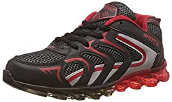 Steemo Men's Black and Red Running Shoes - 9 UK/India (43 EU)(STM1025)