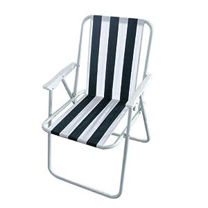 Milestone Folding Outdoor Leisure Chair Folding Beach Chair - White, 52 x 47 x 75 cm