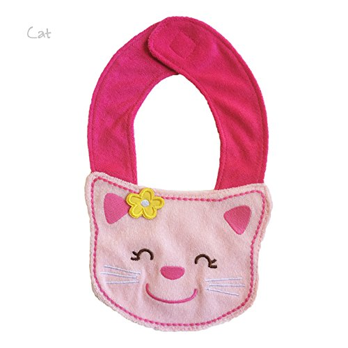 Lil' Oopsies Bibs for Toddlers - Premium Quality, 3 Layered Absorbent & Waterproof Teething, Feeding & Drooling Bibs. Unique Baby Shower Gift for Girls. Suitable for Husky Babies to Toddlers. Kitten