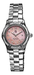Tag Heuer Women s WAF141B BA0824 Aquaracer 27mm Stainless Steel Diamond Mother-of-Pearl Dial Watch