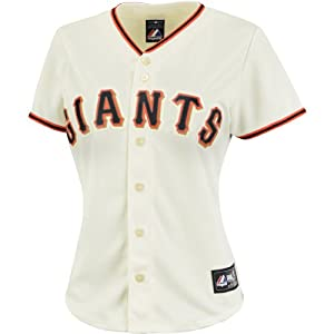 Majestic Athletic San Francisco Giants Buster Posey Ladies Replica Home Jersey by Majestic Athletic