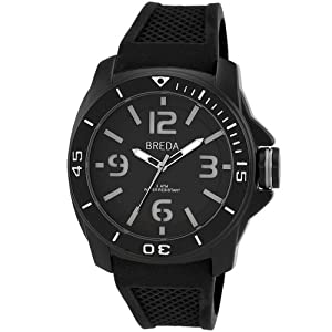 Breda Men's 9301-Black Ethan Tachometer Bezel Matte Watch