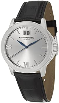 Raymond Weil Black Genuine Leather Men's Watch