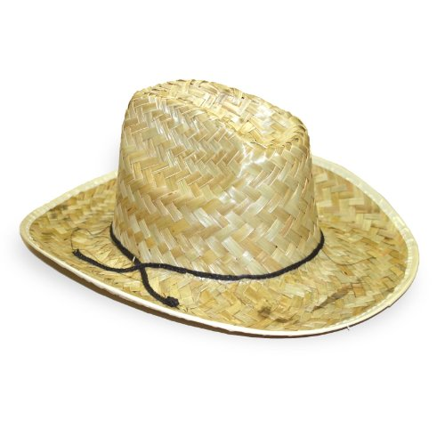 Straw Cowboy Hat Adult (One-Size) - 1