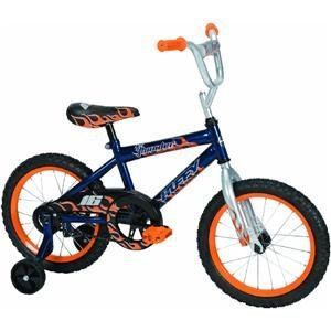 Huffy Boy's Pro Thunder Bike (Blue Ribbon/Trophy Silver, Medium/16-Inch)