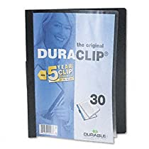Durable® DuraClip® Report Cover COVER,REPORT,BNDR,LTR,BK (Pack of50)