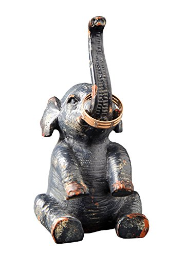 Creative Co-Op Pewter Elephant Ring Holder (Baby Elephant Ring Holder compare prices)