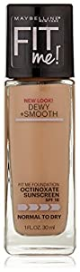 Maybelline New York Fit Me! Foundation, 120 Classic Ivory, SPF 18, 1.0 Fluid Ounce