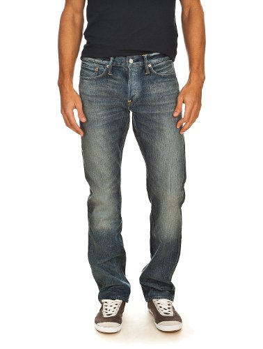 Jeans Straight Leg Lake Wash Evisu W33 L34 Men's