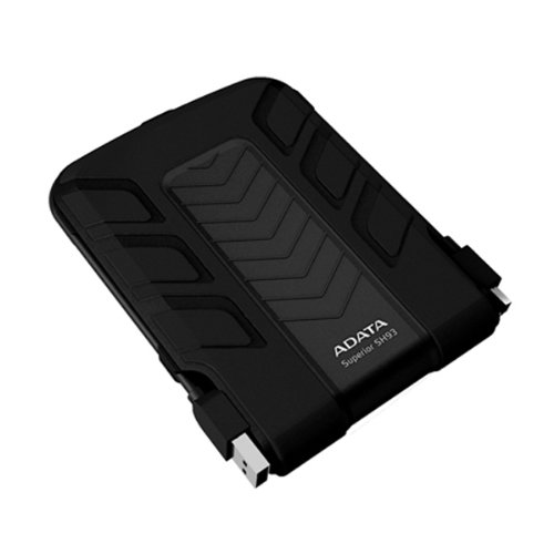 Adata SH93 2.5 inch 500GB External Shockproof Hard Drive - Black