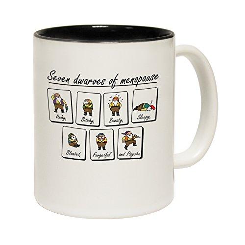 Dwarves 123t tazze di Menopause Seven-Tazza in ceramica con scritta, Ceramica, nero