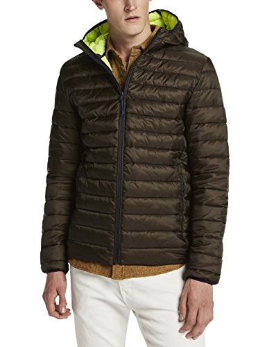 Scotch & Soda Classic Quilted Hooded Jacket In Nylon Quality, Felpa Uomo, Grün (Military 60), Small