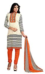 Nilkanth Enterprise Beige And Multi-Coloured Dress Material