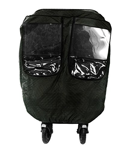 Comfy Baby! Insulated Quilted Rain-cover Special Designed for the City Mini GT Double Stroller, Comes with Clear See-Thru Windows with Extra Sun Shade, Plus Protection Net When Window is Open.