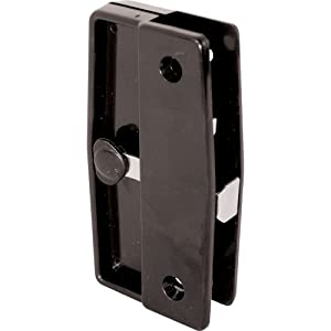 Prime-Line Products A 139 Screen Door Latch and Pull, Black Plastic