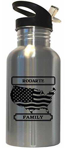 rodarte-family-name-american-flag-stainless-steel-water-bottle-straw-top