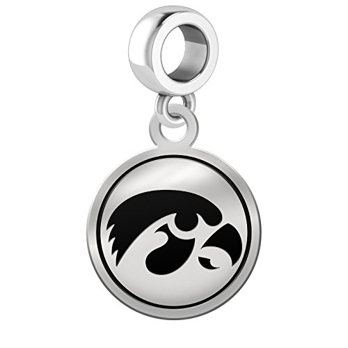 Iowa Hawkeyes Border Round Dangle Charm
