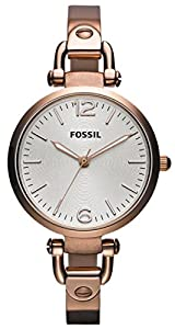 Rose Gold Georgia Three-Hand Stainless Steel Watch by Fossil