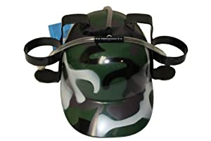Camouflage Drinking Hat For Adults & Kids.. New by SUPERDAVES SUPERSTORE