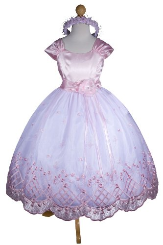 E1155 New Pink Flower Girl Pageant Easter Party Wedding Dress Size 2 to 12 (Same Day Shipping. Orders Arrive in 3 to 5 Business Days)