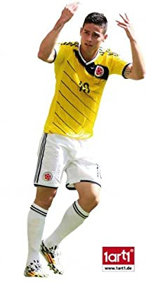 Soccer Poster-Sticker Wall-Tattoo - James Rodríguez, El Nuevo Pibe (28 x 20 inches)
