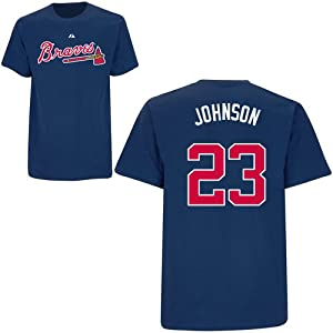 Chris Johnson Atlanta Braves Navy Player T-Shirt by Majestic by Majestic