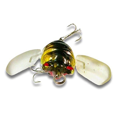 bouti1583-Fishing-Tackle-Lure-Snakehead-Bass-Killer-Insect-Cicada-Freshwater-Bait-6g