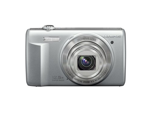Olympus VR-370 16MP Digital Camera with 3-Inch LCD (Silver)