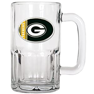 NFL Green Bay Packers Oval Logo Root Beer Style Mug, 20-Ounce, Clear Glass