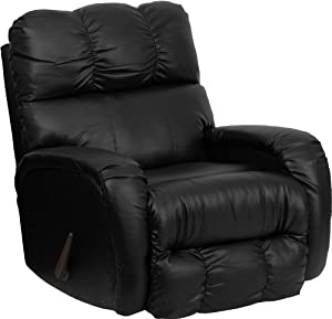 Flash Furniture AM-9850-9072-GG Contemporary Bentley Black Leather Chaise Rocker Recliner