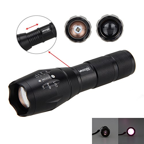 pretty nice efbb9 31d08 Outdoor Sports LED Infrared IR Flashlight Zoomable Torch Light for Night  Vision Scope Optical