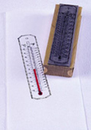 13 Pack CENTER ENTERPRISES INC. STAMP THERMOMETER CELLSIUS/