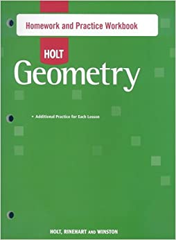 Holt geometry textbook homework help