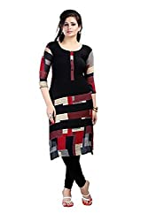 Fashion Galleria black printed fency cotton kurti