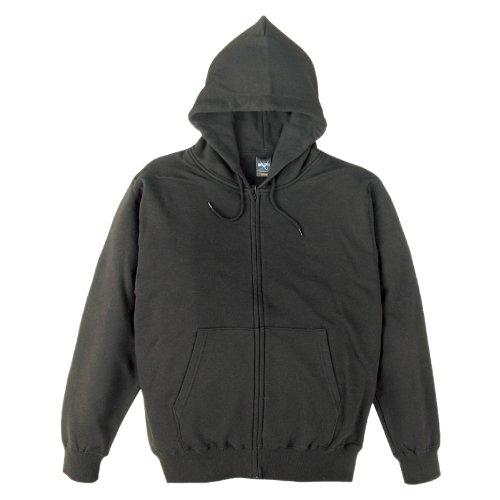 (ティーシャツドットエスティー)Tshirt.st 無地でシンプルな レギュラー ジップ パーカー (裏パイル) スーパーブラック L
