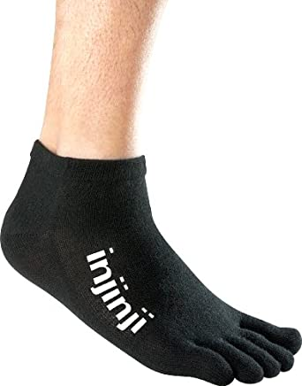 Injinji - 2012 - Performance Original Weight Micro Toesocks, Black, Large