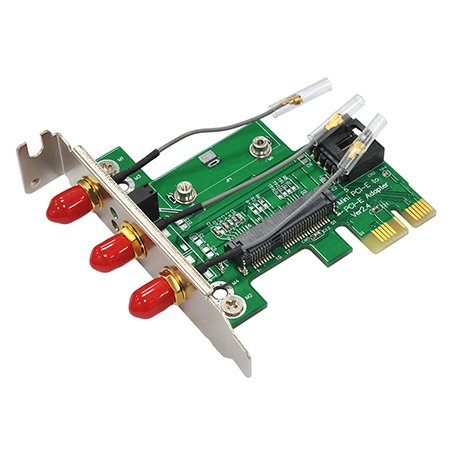 Bplus Mp2H-Rpsma : Half Mpcie / Minicard To Pcie Adapter With Usb2.0 Interface & 3Pcs Rp-Sma Connectors For Wi-Fi & Bluetooth.